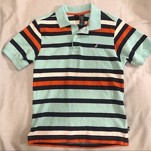 Nautica boys polo shirt sz M (10/12)